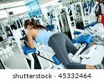woman at the gym exercising on... | Shutterstock . vector #45332464
