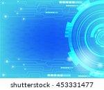 vector tech circle and... | Shutterstock .eps vector #453331477