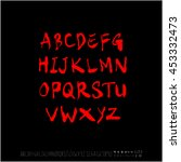 alphabet   number   handwriting ... | Shutterstock .eps vector #453332473
