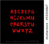 alphabet   number   handwriting ... | Shutterstock .eps vector #453334867
