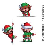 set of 3 themes of  cartoon...   Shutterstock .eps vector #453340993