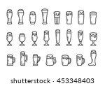 icon set beer with foam in beer ... | Shutterstock . vector #453348403