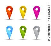 map pointer icons   Shutterstock . vector #453352687