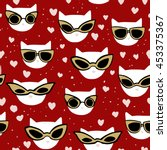 vector seamless pattern with... | Shutterstock .eps vector #453375367
