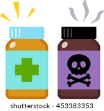 medicine and poison | Shutterstock .eps vector #453383353