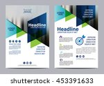 blue brochure layout design... | Shutterstock .eps vector #453391633