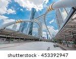 financial district office... | Shutterstock . vector #453392947