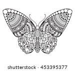 butterfly. vintage decorative... | Shutterstock .eps vector #453395377