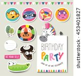 greeting cards  gifts  stickers ... | Shutterstock .eps vector #453401827