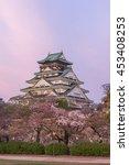 Osaka Castle And Cherry Blosso...