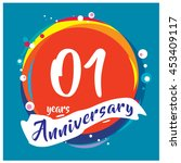 1st years greeting card... | Shutterstock .eps vector #453409117