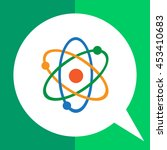 atom model icon | Shutterstock .eps vector #453410683