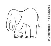 graphic symbolic elephant of...   Shutterstock .eps vector #453430063