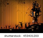 the illustration of halloween... | Shutterstock .eps vector #453431203