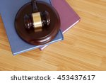 legal book and judge gavel on