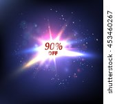 blue glowing background. sale.... | Shutterstock .eps vector #453460267
