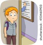 illustration of a little boy... | Shutterstock .eps vector #453460903