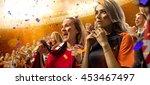 stadium soccer fans emotions... | Shutterstock . vector #453467497