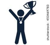 winner vector icon | Shutterstock .eps vector #453469783