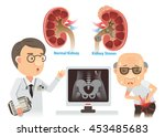 doctors are advising the old... | Shutterstock .eps vector #453485683