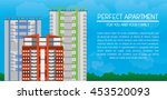 three high rise residential... | Shutterstock .eps vector #453520093