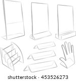 transparent acrylics on white | Shutterstock .eps vector #453526273