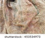 jute burlap border texture | Shutterstock . vector #453534973