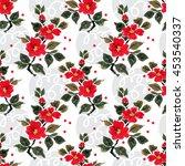seamless floral pattern... | Shutterstock . vector #453540337