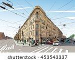 russia. saint petersburg....   Shutterstock .eps vector #453543337