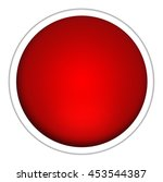 blank button isolated on white... | Shutterstock . vector #453544387