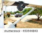 old aircraft wreckage | Shutterstock . vector #453544843