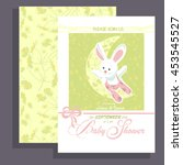 invitation card baby shower... | Shutterstock .eps vector #453545527