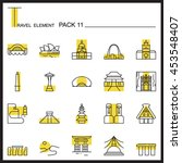 travel element line icon set 11.... | Shutterstock .eps vector #453548407