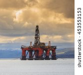 semi submersible oil rig at... | Shutterstock . vector #453553153
