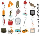set of twenty fishing color... | Shutterstock .eps vector #453566017