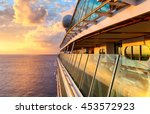 Sunset From The Open Deck Of...