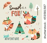 smart as a fox  quote poster... | Shutterstock .eps vector #453581587
