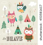be brave. quote poster with... | Shutterstock .eps vector #453581617