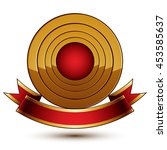 design vector golden ring... | Shutterstock .eps vector #453585637