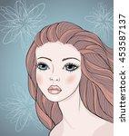 vector portrait of the...   Shutterstock .eps vector #453587137