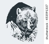 wild forest grizzly bear vector ... | Shutterstock .eps vector #453591337