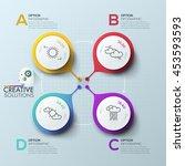modern arrow business template. ... | Shutterstock .eps vector #453593593