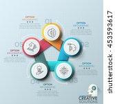 modern spiral infographics... | Shutterstock .eps vector #453593617