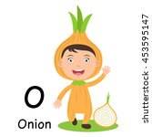 alphabet letter o onion vector...