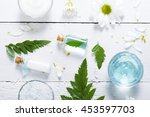 spa setting with cosmetic cream ... | Shutterstock . vector #453597703