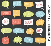 vector speech bubble colorful... | Shutterstock .eps vector #453608707