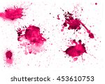 colorful abstract watercolor...   Shutterstock .eps vector #453610753