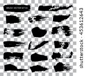 set of brush stroke vector...   Shutterstock .eps vector #453612643