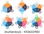 business infographics. pie... | Shutterstock .eps vector #453632983