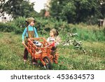 the little girls gardener... | Shutterstock . vector #453634573